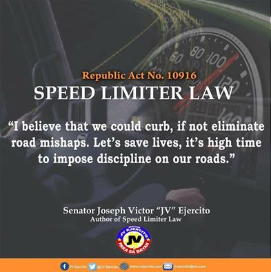 Sen. JV on Speed Limiter Law