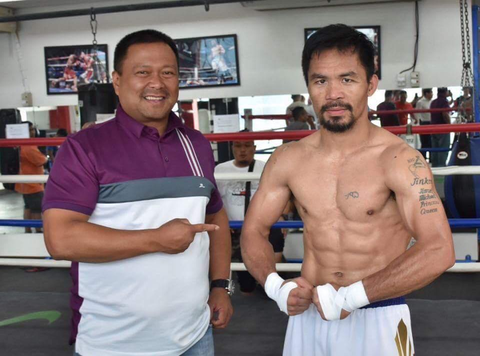 Sen. JV Ejercito With The Boxing Champ Sen. Manny Pacquiao