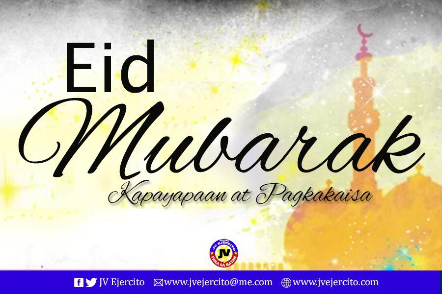 Have a blessed Eid to all our Muslim brothers and sisters