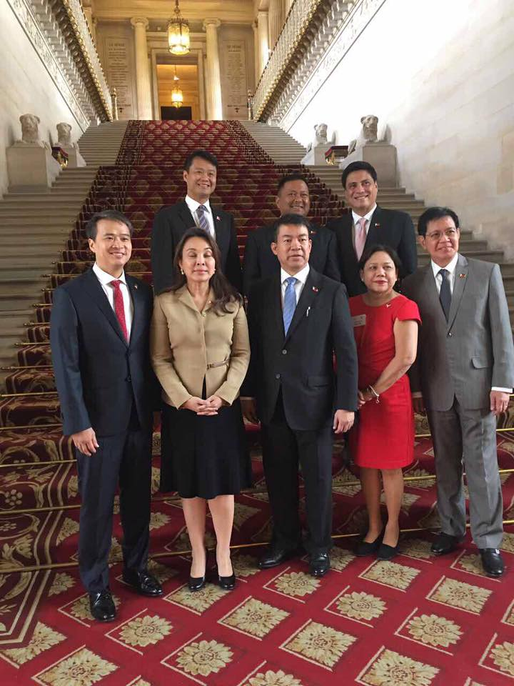 Sen. JV Ejercito, Senate Pres. Koko Pimentel and the Other Senators With French Senate President Larcher And The French Senators  Had a Productive Meeting.
