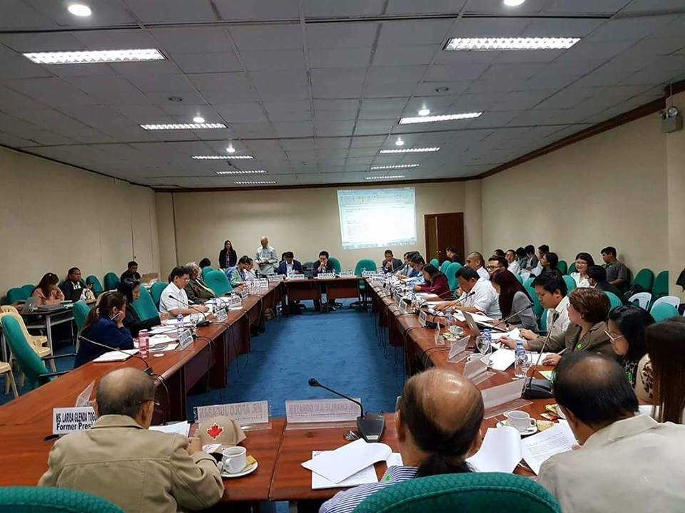 Senate Committee on Housing Busy in a TWG For The Creation of the Department of Human Settlements & Urban Development.