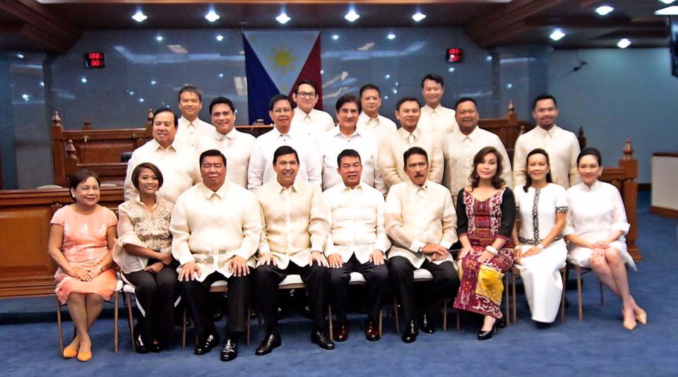 Sen. JV With His Co-senator On The Opening of the Second Regular Session of the 17th Congress.