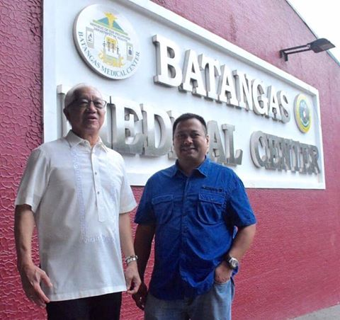 Sen. JV Visited The Batangas Medical Center.