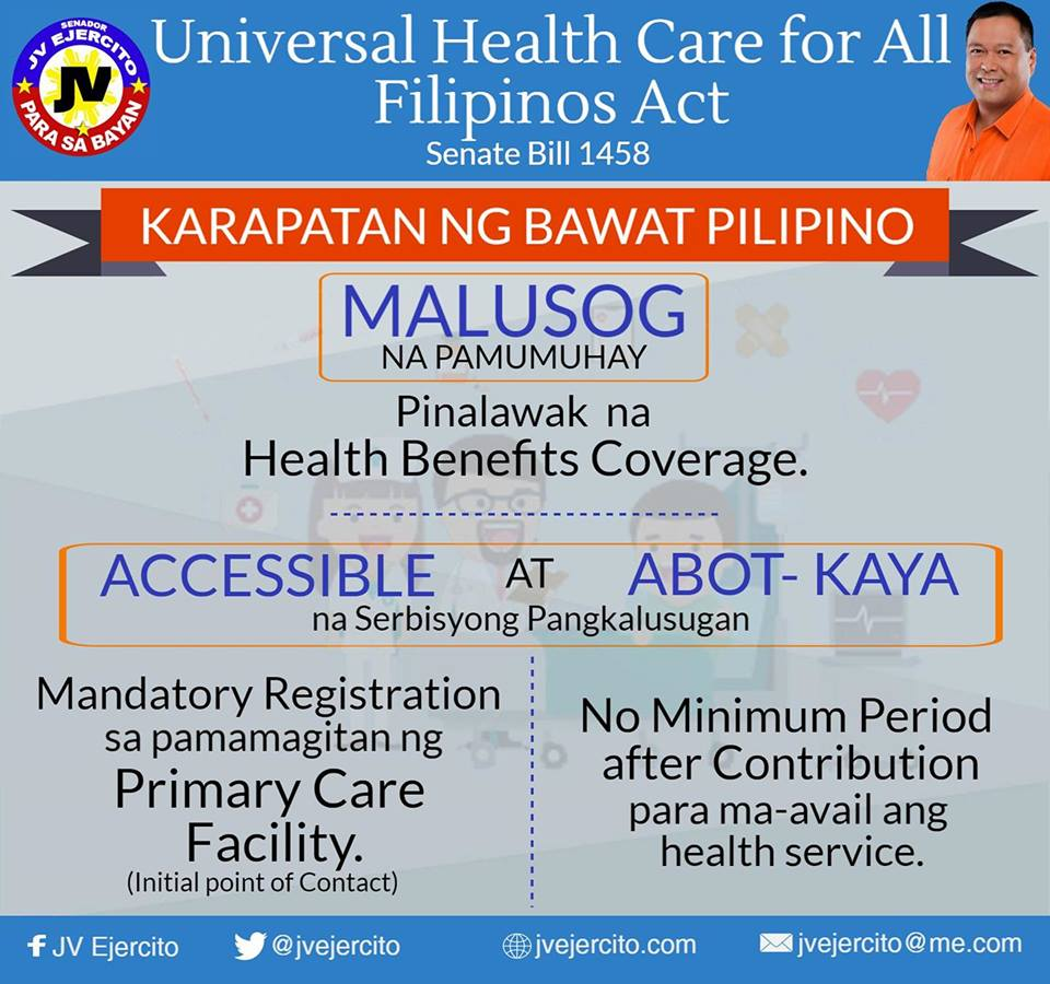 UNIVERSAL HEALTH CARE FOR ALL FILIPINOS ⚕️⚕️