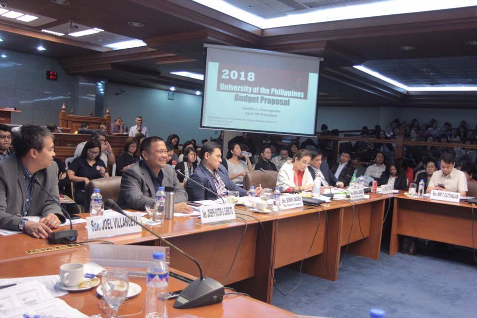 Sen. JV During the Deliberation on the Proposed Budgets of State Universities and Colleges and Commission on Higher Education.
