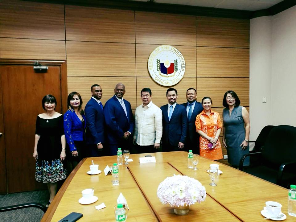 US Senator Emanuel Jones from the State of Georgia pays courtesy call to the Philippine Senate.