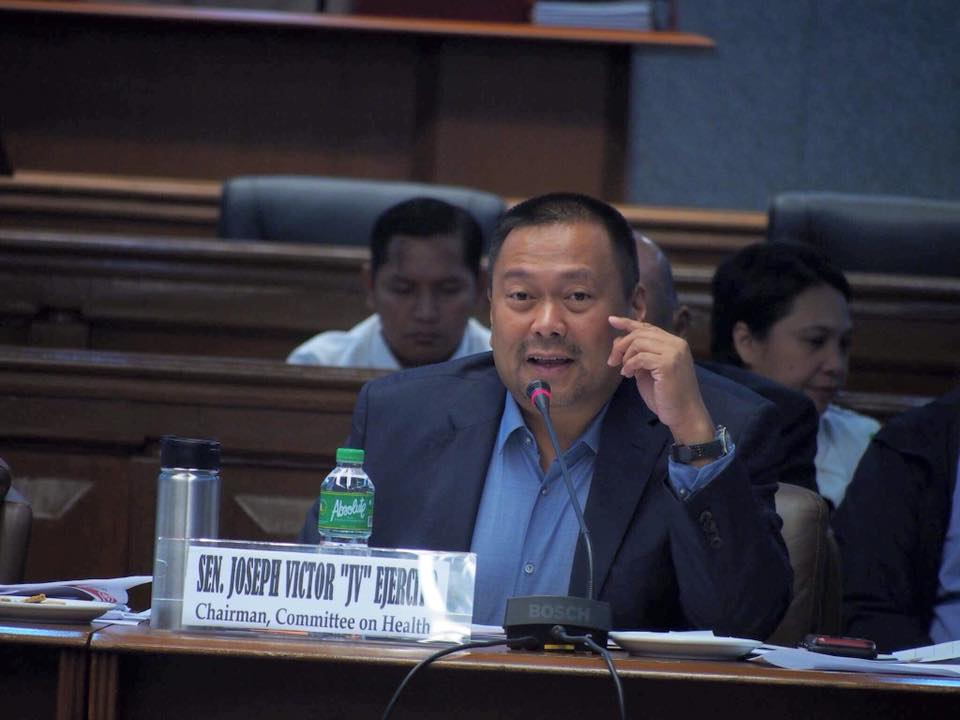 Sen. JV Joint the hearing of the Blue Ribbon and Health Committee on the controversy surrounding the Dengvaxia vaccine.