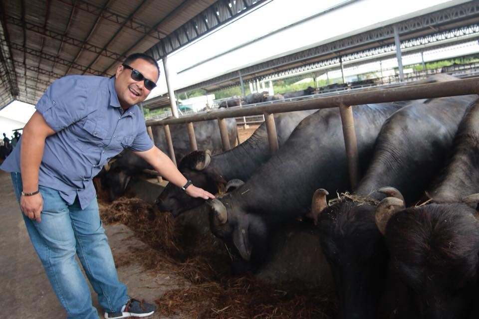 Senator JV Goes to Philippine Carabao Center.