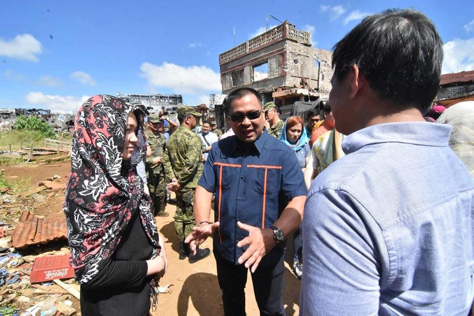 "Senator JV At MARAWI ""GROUND ZERO"""
