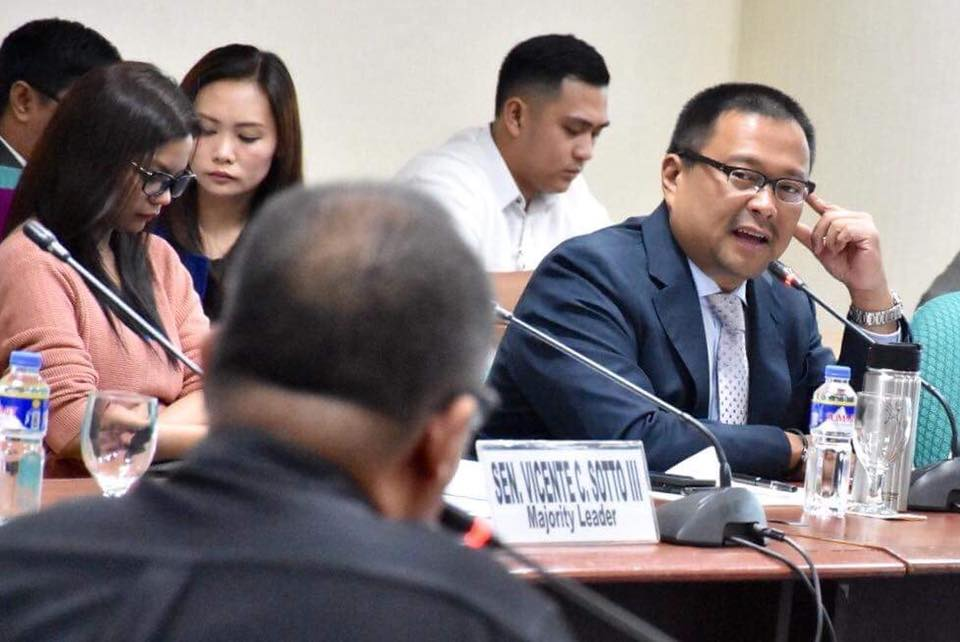 Sen. JV During the Public Hearing on the inquiry on the Living Conditions of Resettled Families in Northville and Southville Relocation Sites and Senate Bill No. 1023