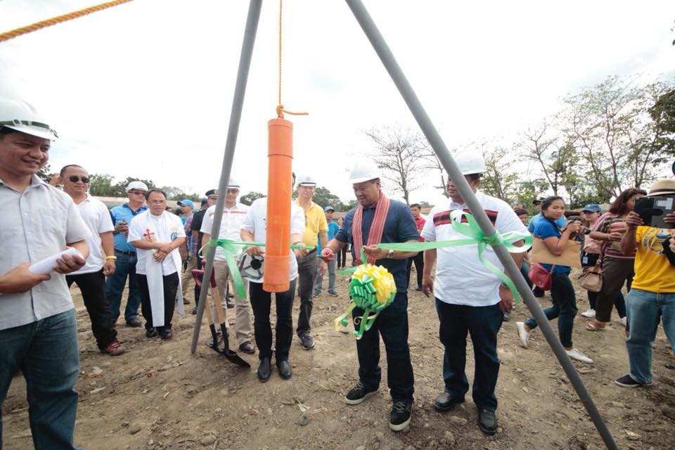 SEN. JV DURING THE KALINGA CHILDREN'S WARD and WELLNESS CENTER GROUND BREAKING CEREMONY