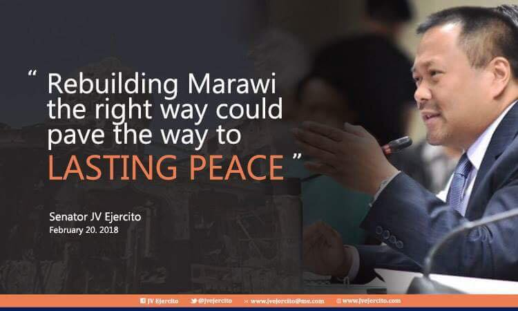 Sen. JV On Marawi Rehabilitation