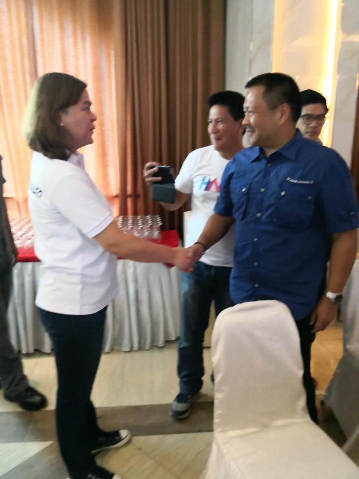 Senator JV with Mayor Sarah Duterte