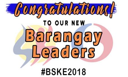Congratulations to our new Barangay Leaders