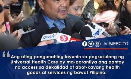 Sen. JV Ejercito on Universal Health Care