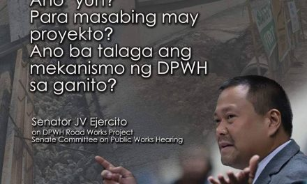 Senator JV on DPWH Road Works Project