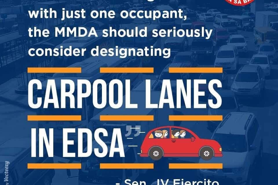 Senator JV On Carpool Lanes in EDSA