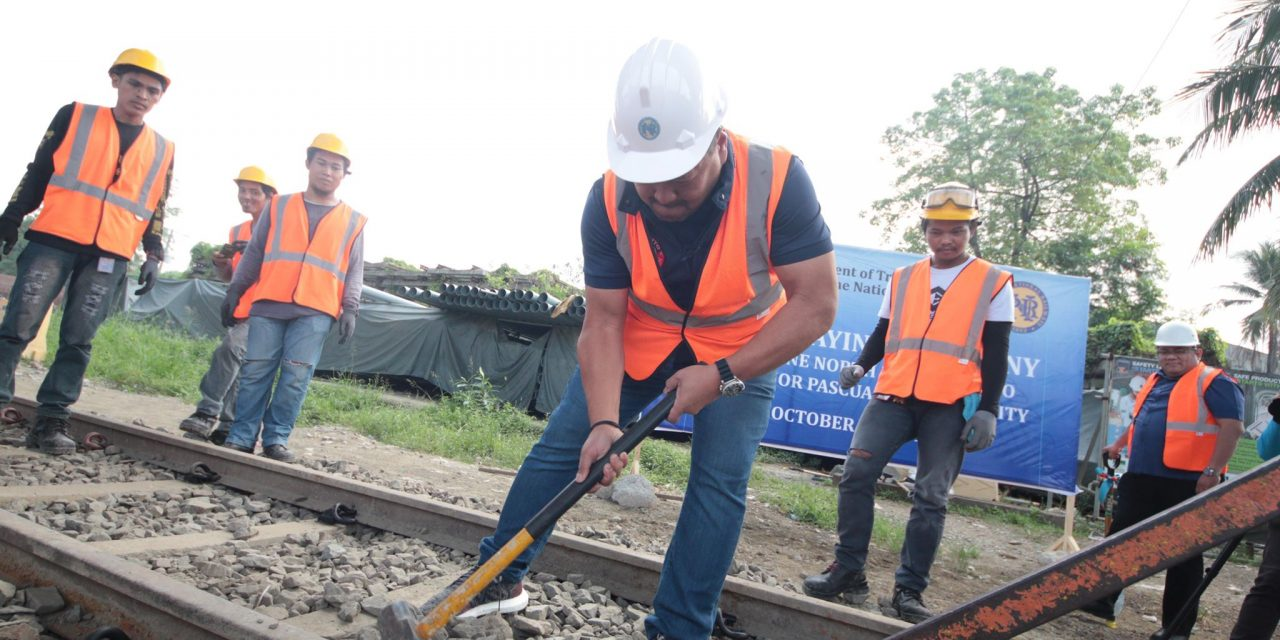 PNR TRACK LAYING CEREMONY.