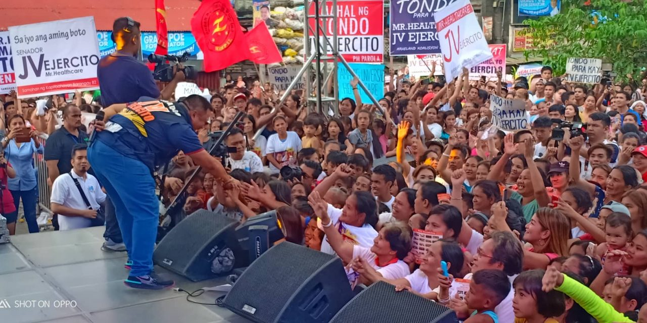 Moriones Tondo for the kick-off rally