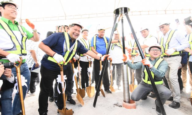 GROUND BREAKING CEREMONY of METRO MANILA SUBWAY PROJECT.