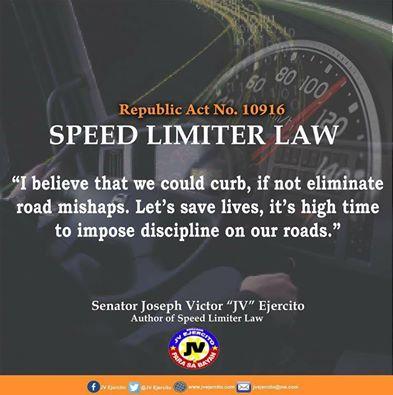 Sen. JV on Speed Limiter Law