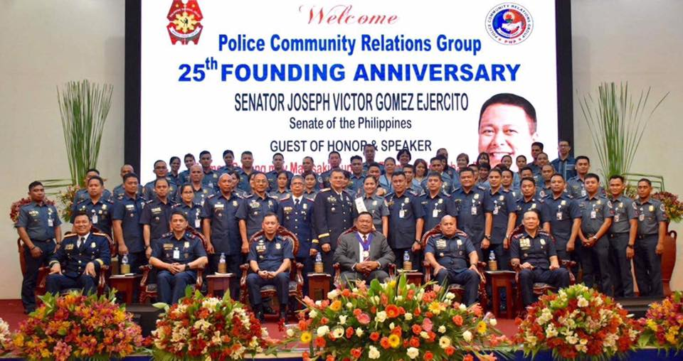 Sen. JV As the Guest of Honor for the 25th Anniversary of the PNP-Police Community Relations Group
