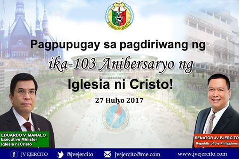Maligayang Anibersaryo sa ating mga kapatid na Iglesia