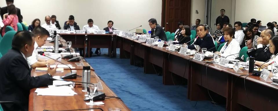 Senator JV During the Development Budget Coordinating Council Presentation.