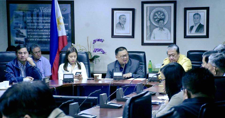 Sen.JV Attended the Briefing on the Proposed 2018 Budget of the Department of Transportation Together with Secretary Arthur Tugade and DOTr officials.