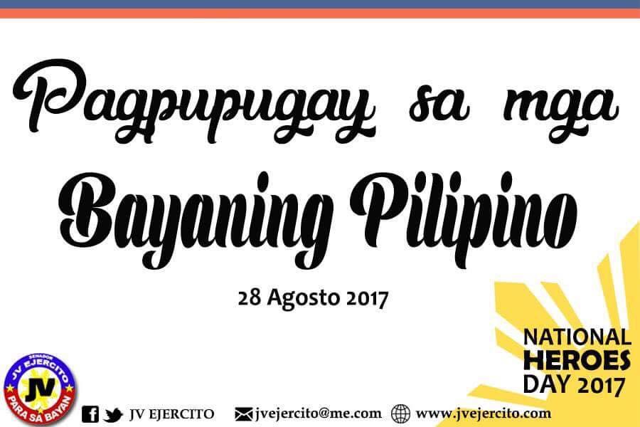Pagpupugay sa mga Bayaning Pilipino