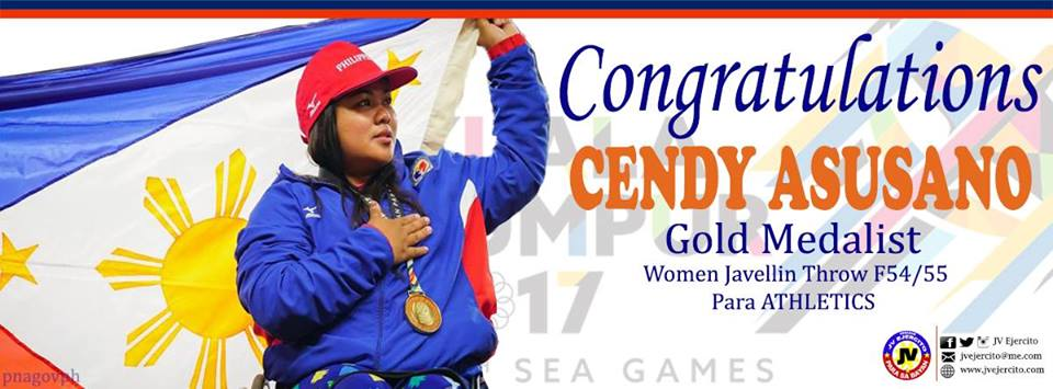 Congratulations, Cendy Asusano for winning the GOLD medal