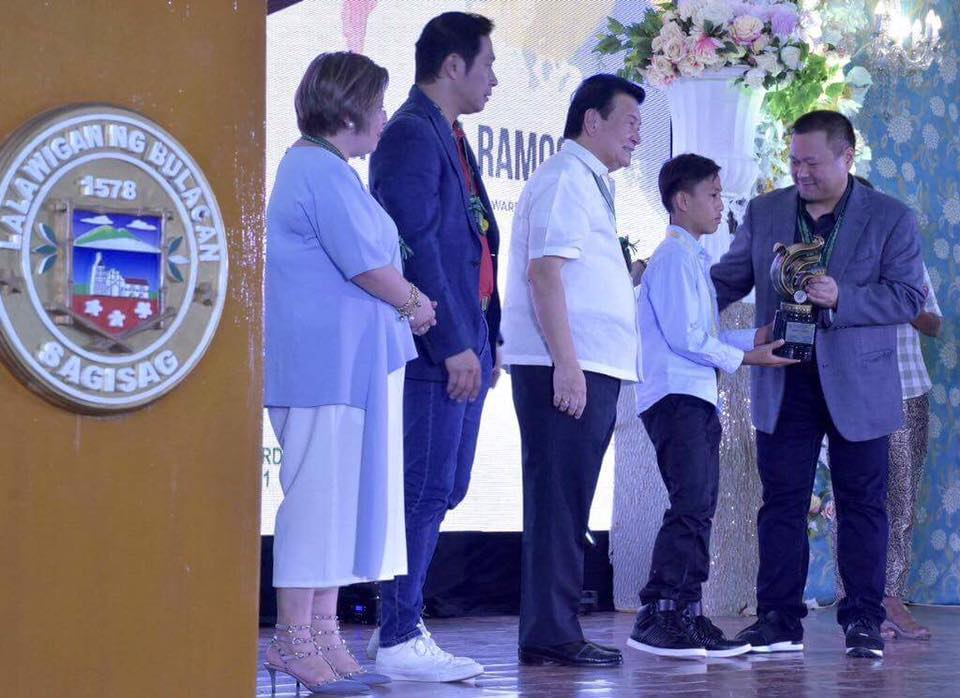 SEN.JV DURING THE BULACAN's GINTONG KABATAAN AWARDS 2017 👦🏻👧🏻🏆