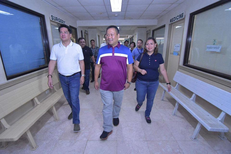 Sen. JV Visited Butuan Medical Center today to check their ward and facilities.