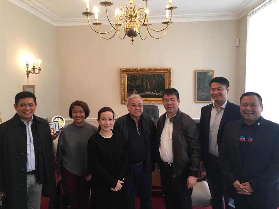 Sen. JV With His Co-Senators Visits the OFWs in London.