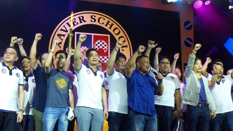 Sen. JV with his Batchmates During the Celebration of Xavier School Alumni Homecoming.