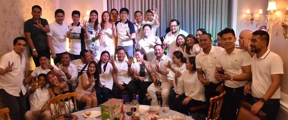 Sen. JV Ejercito at the National Movement of Young Legislators (NMYL) Christmas Party.