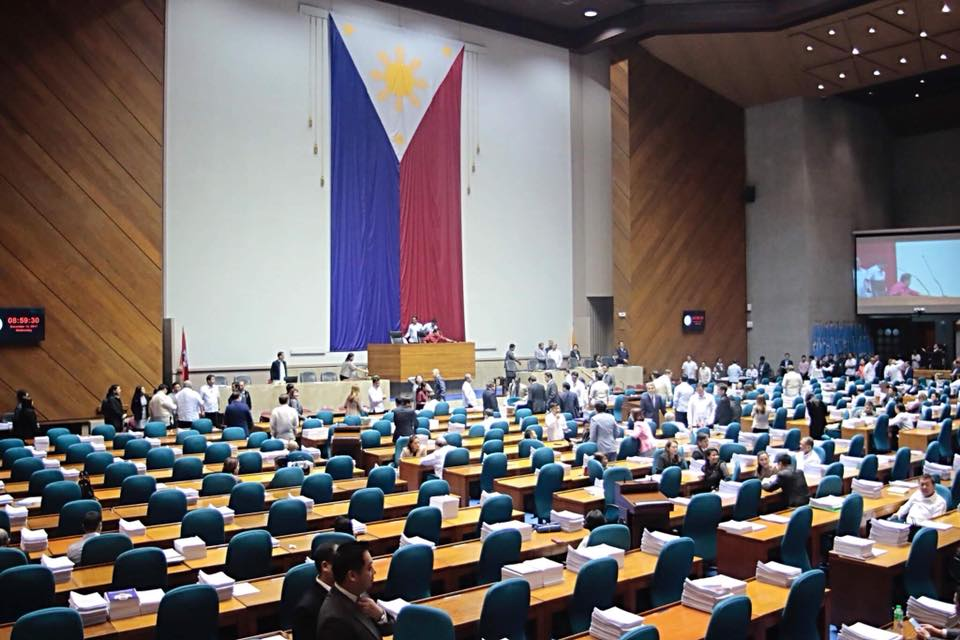 Here at Congress for a joint session on martial law extension in Mindanao.