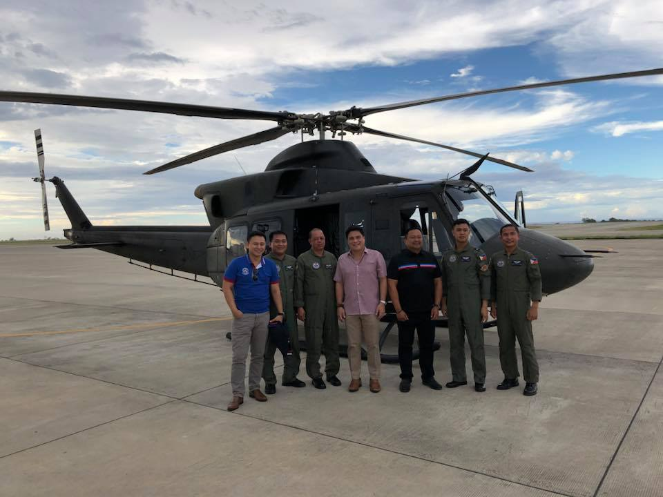 Sen. JV Had the chance to ride the Air Force's new Bell 412 chopper with Seatmates Sen. Migs & Sonny.