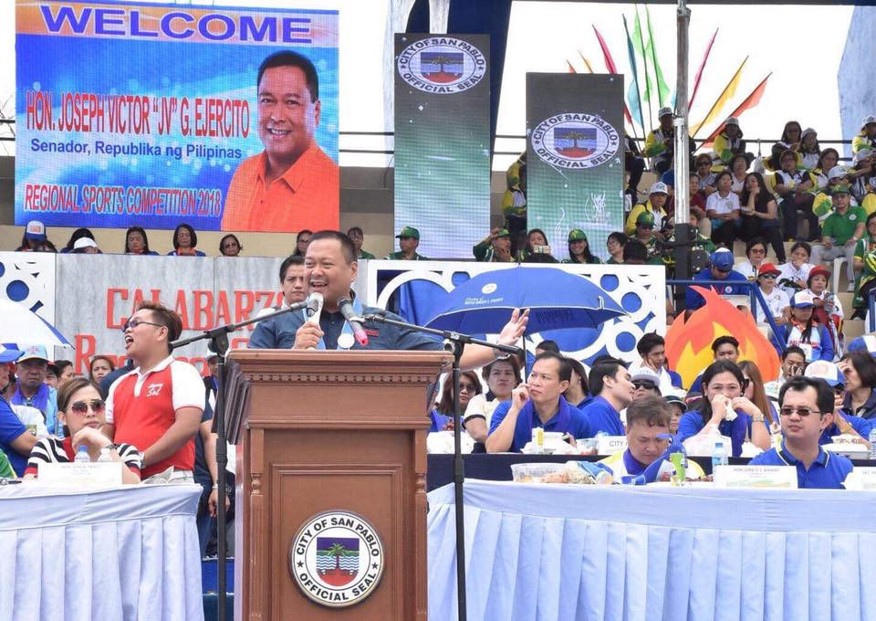 SENATOR JV DURING THE REGIONAL SPORTS COMPETITION 2018 OPENING CEREMONIES