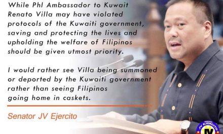 Senator JV On OFW in Kuwait Issue