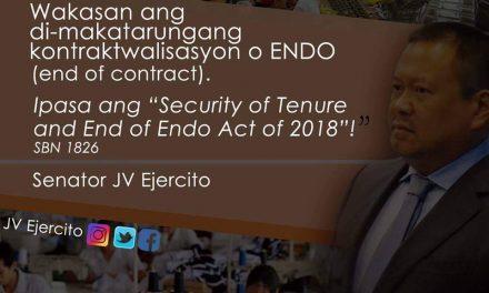 Senator JV Ejercito on ENDO