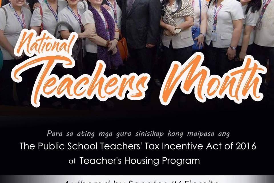 National Teachers Month celebration