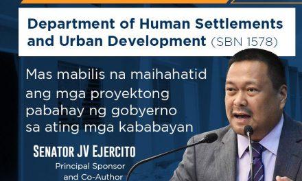 Department of Human Settlements and Urban Development Aprubado na sa Second Reading sa Senado