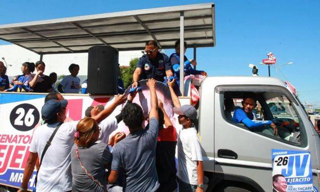 Motorcade around Alaminos, San Pablo, Calauan, Sta. Cruz and Pagsanjan in Laguna Province.